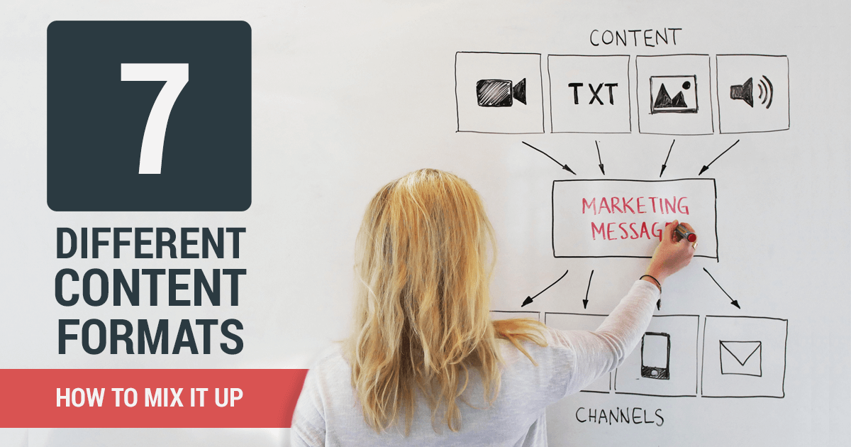 seven different content formats and how to mix them up