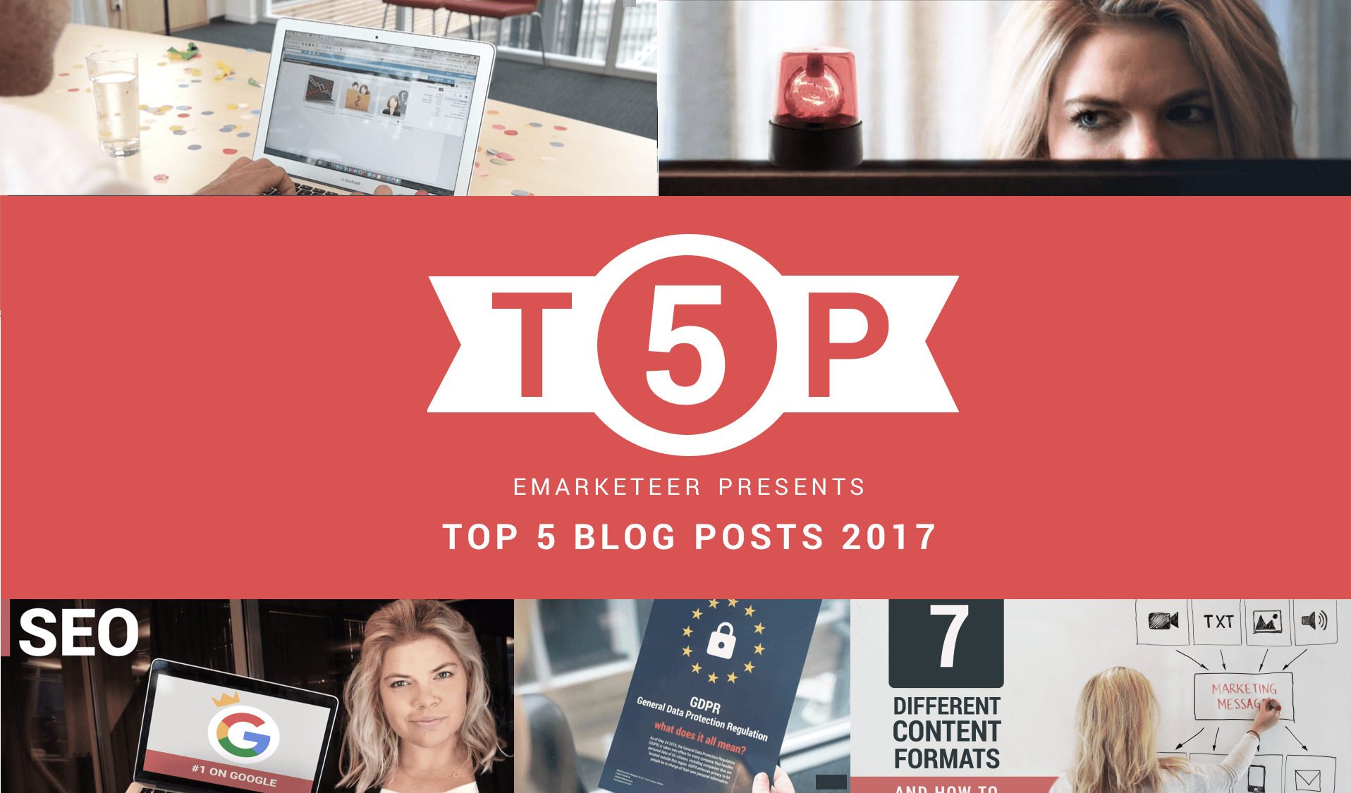Feature image to blog post on best marketing advice from 2017