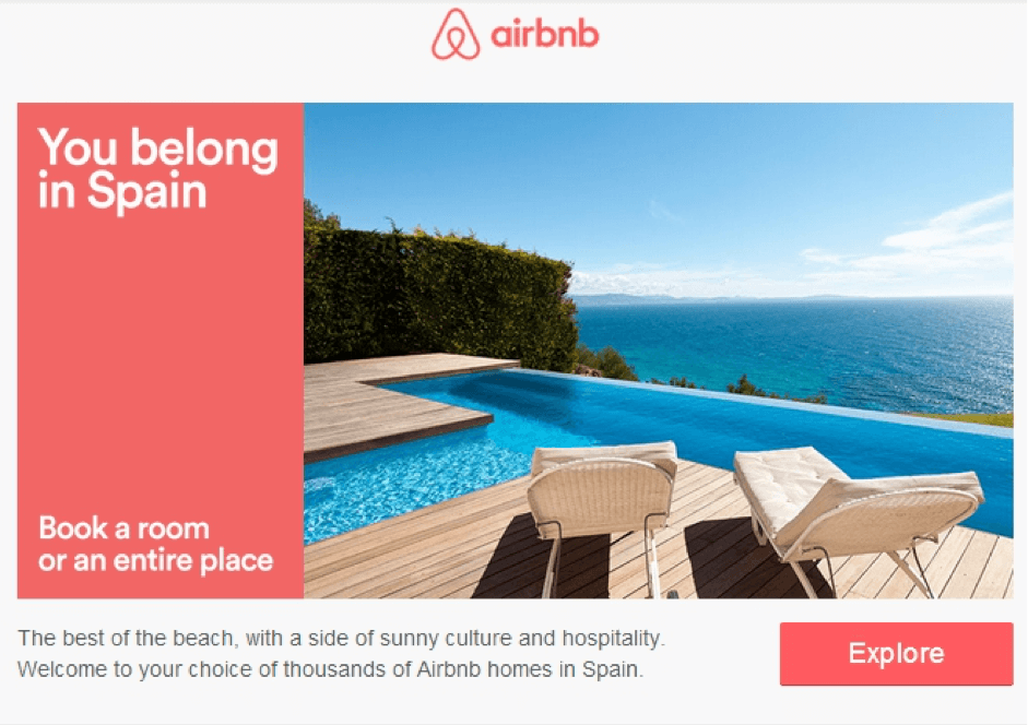 Airbnb email example