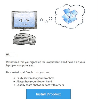Dropbox activation email