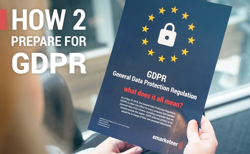 General Data Protection regulation is approaching, this is how to prepare for it